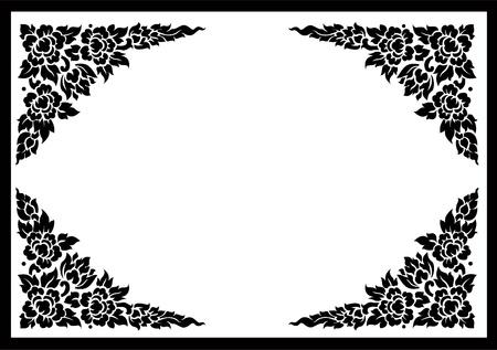타이어 꽃 패턴 배경 일러스트