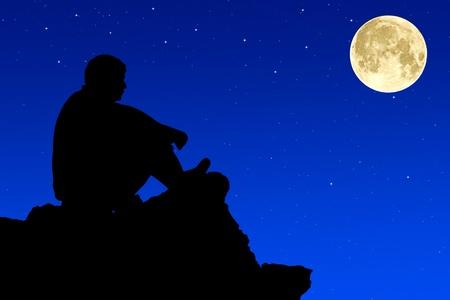 gölge: Silhouette climbers evening.