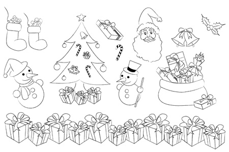 the set of christmas concept  Vector