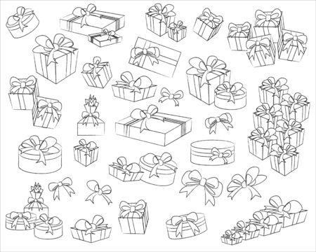 set of gift box  Vector