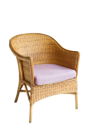 arm chair: Wicker chair  Stock Photo