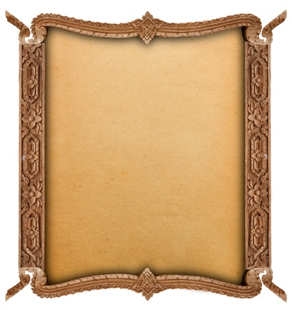 Wood frame  Stock Photo