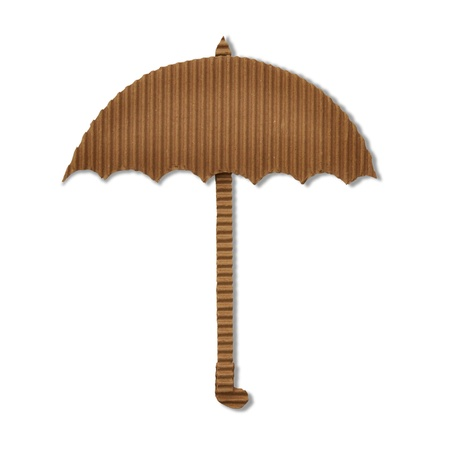 cardboard umbrella  photo