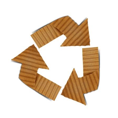 meter box: cardboard recycling  Stock Photo