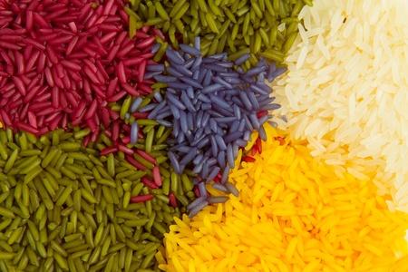 Colored rice photo