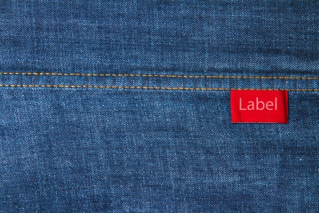 Labels on jeans  photo