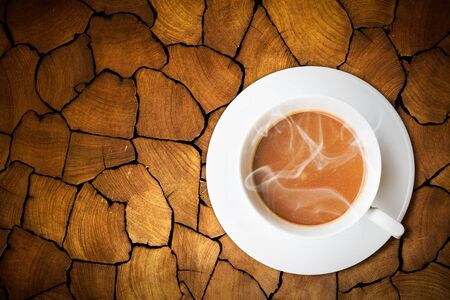 coffee on old wood  photo