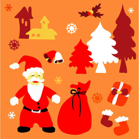 christmas background icon Stock Vector - 15655652