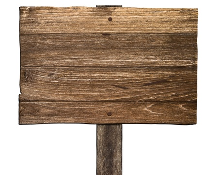 Old wooden sign  photo