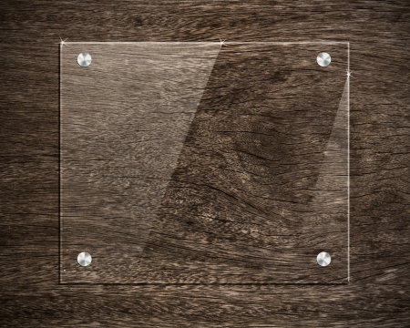 board glass on wood Stock Photo - 15741901