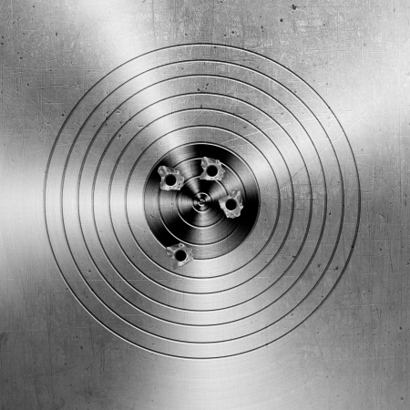 Metal targets background  photo