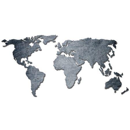 old bar: metal background world map