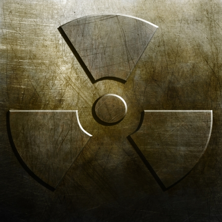 nuclear bomb: Metal background