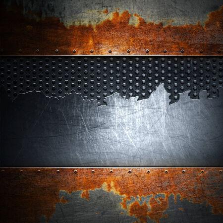hard alloy: metal background