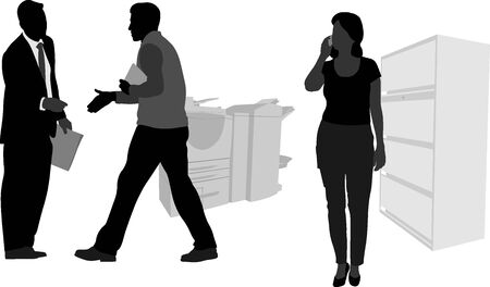 Cellphone handenschudden Stock Illustratie
