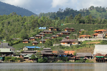 hillside: A hillside village
