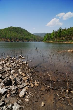 Reservoir in summer season photo