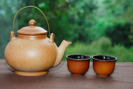 terra cotta: Traditional chinese tea cup