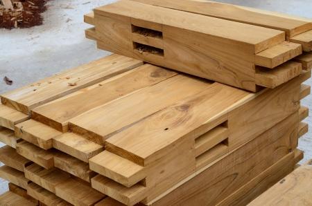 Bestandteil der Teak Holz Dachkonstruktion Standard-Bild