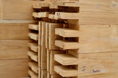 Component of Teak wood roof structure Stock Photo - 21503022