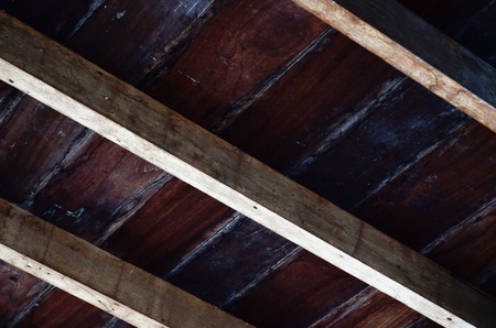 rafter: Wood floor and timber rafter