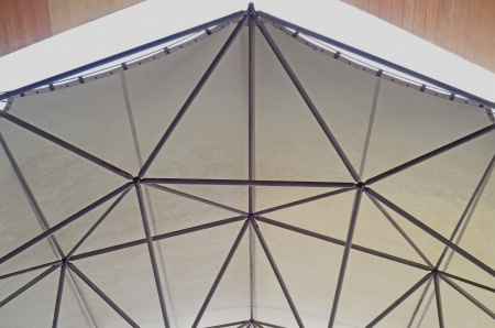 Tensile membrane roof  Design use space frame  Install in Chiangmai Thailand photo