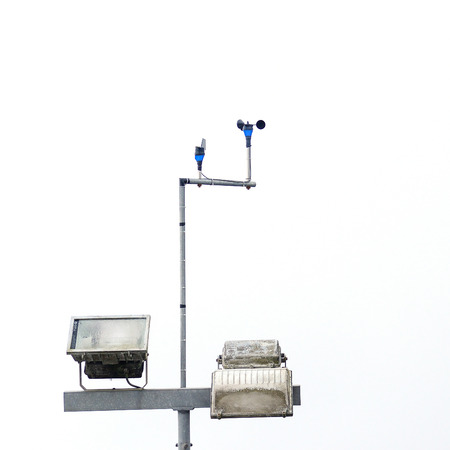 anemometer: Anemometer at a Weather Station Stock Photo