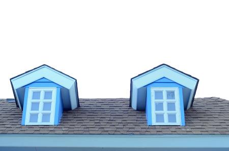 shingle: Double Roof tile or Shingle roof jack roof Stock Photo