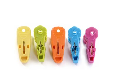 clothes peg: Colorful plastic clothes pin or Colorful plastic clothes peg