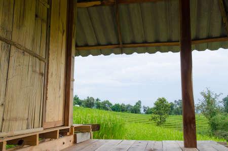 dais: Varanda in country home