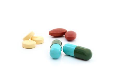 錠剤薬ヒープ色ミックス療法薬インフルエンザ抗菌薬局医学博士医療
