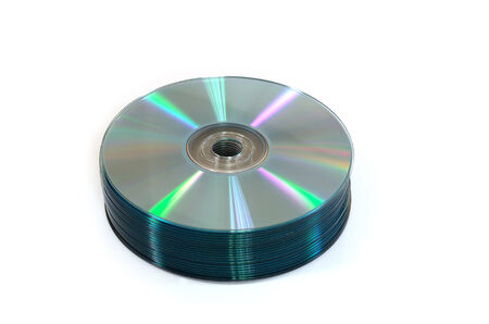 recordable: CD recordable isolated on White Stock Photo