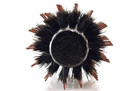 comb brush isolated on white photo
