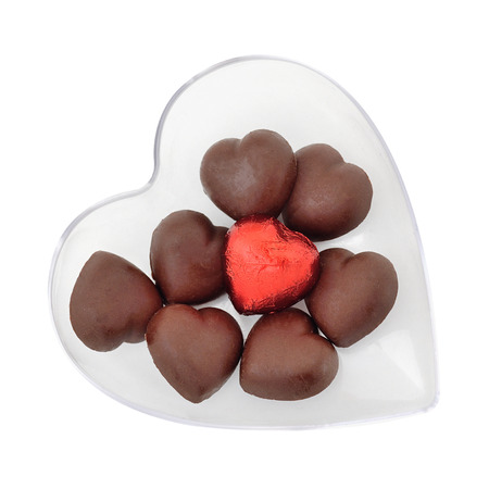 Valentines day background with Chocolate heart shape photo