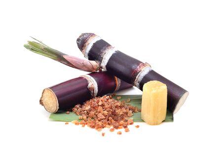cane sugar: Sugar cane isolated on white background Stock Photo