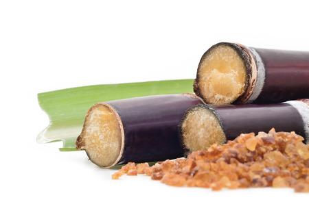 Sugar cane isolated on white background Stock Photo