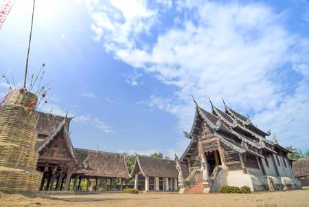 ton: Ancient temple (Wat Ton Kwain temple) ,Chiangmai ,Thailand Stock Photo