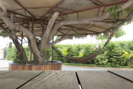 verandah: Terrace wood and crib hang on tree