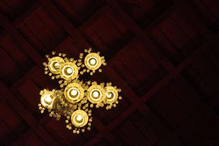 interior lighting: Vintage luxury interior lighting lamp decor Stock Photo
