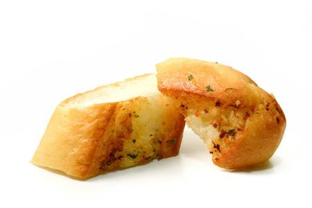 garlic: Garlic Bread homemade isolate on white background