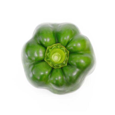 over white background: Green pepper over white background Vegetable