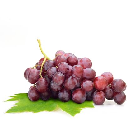 grape fruit: Red grape isolated on white background Fruit Stock Photo