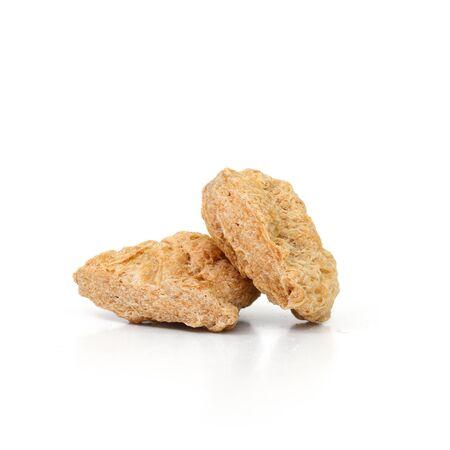 ersatz: Textured Vegetable Protein isolate on white background