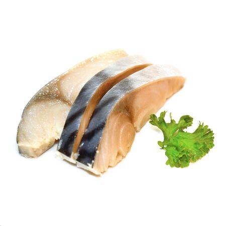 salmon fishery: Japanese food style , Fresh Saba fish isolate on white background