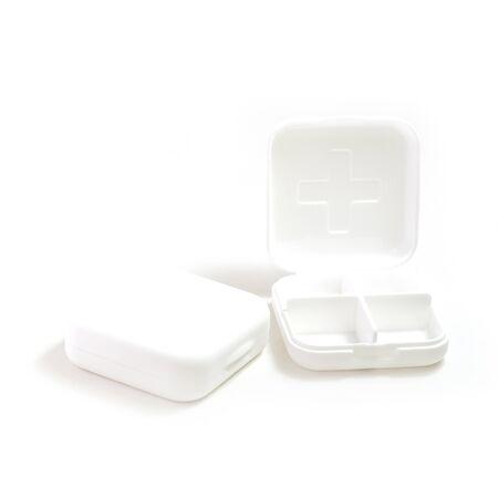 medicine box: Pill box or medicine box isolate on white background
