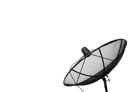 antena parabolica: antena parabólica, aislado en blanco