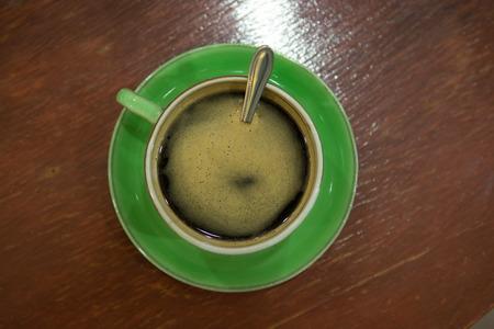 cappaccino: Cup of art espresso on desk