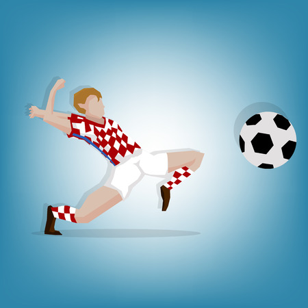 croatia: Croatia Mascot football player Illustration