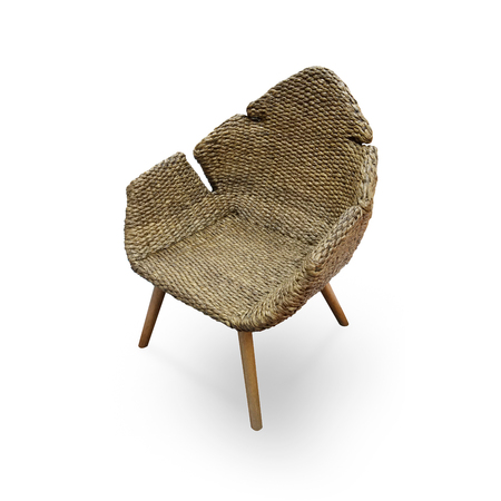 water hyacinth: Water Hyacinth wicker furniture Chair isolate on white background