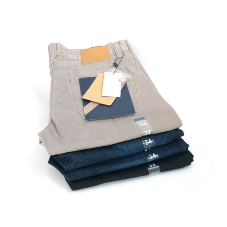 34: Trousers jeans size 34 isolate on white background